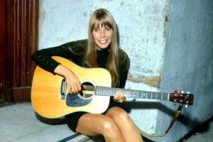 The young Joni Mitchell